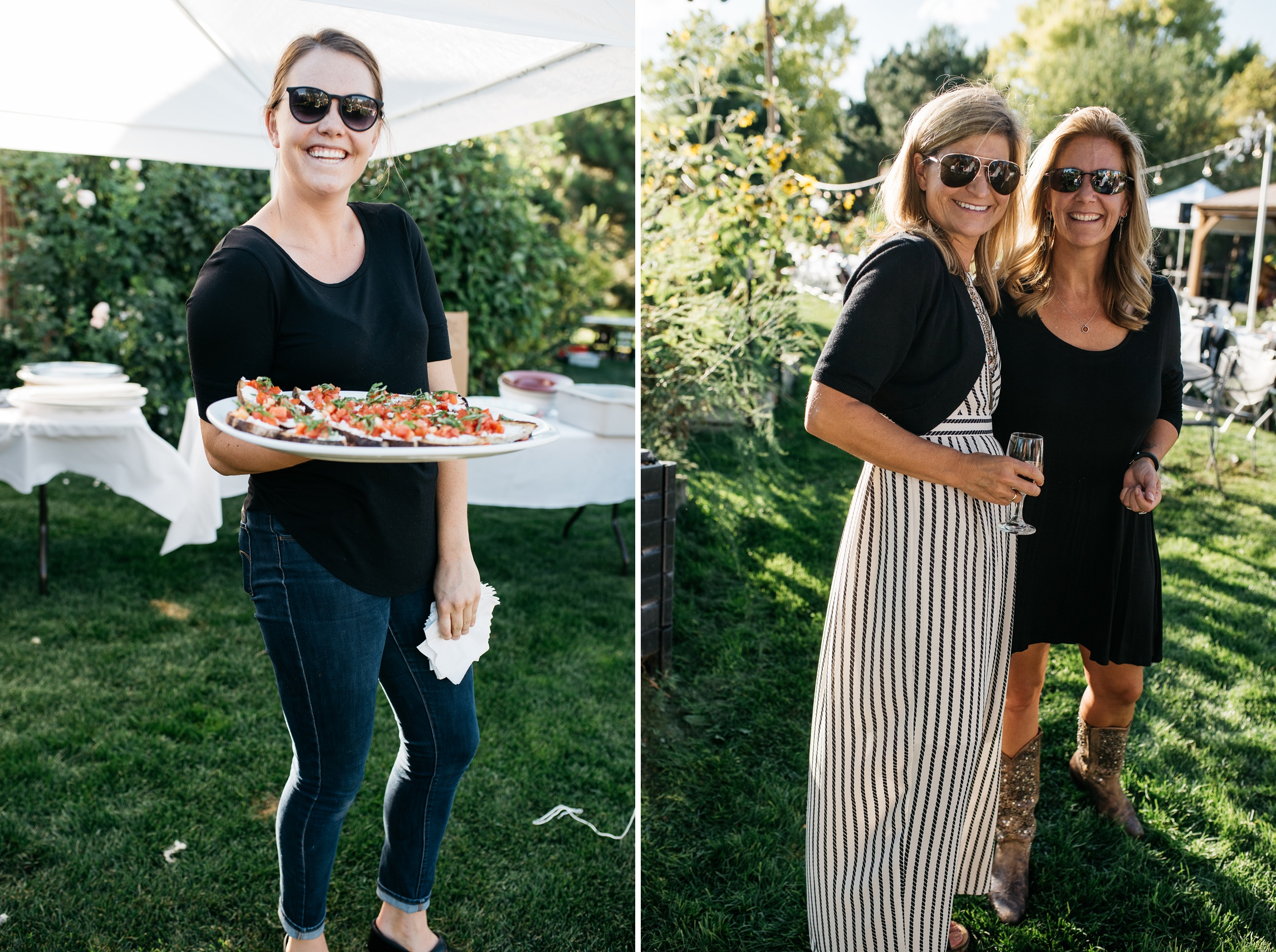 Happy people at the Fortified Collaborations Mishawaka 100 Year Harvest Farm Dinner at Grant Farms CSA outside of Fort Collins, Colorado. Event photography by Sonja Salzburg of Sonja K Photography.