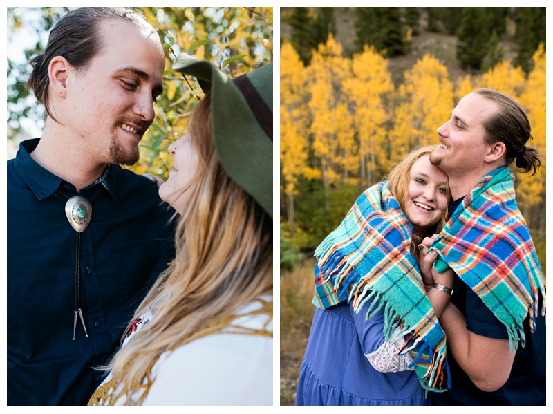 Stephanie and Daniel in Rocky Mountain National Park in Colorado. Engagement photography by Sonja Salzburg of Sonja K Photography.