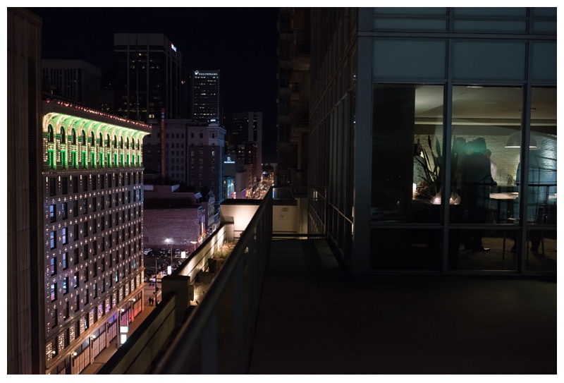 The Theatre District of Denv,er Colorado from SPIRE Denver. Wedding photography by Sonja Salzburg of Sonja K Photography.
