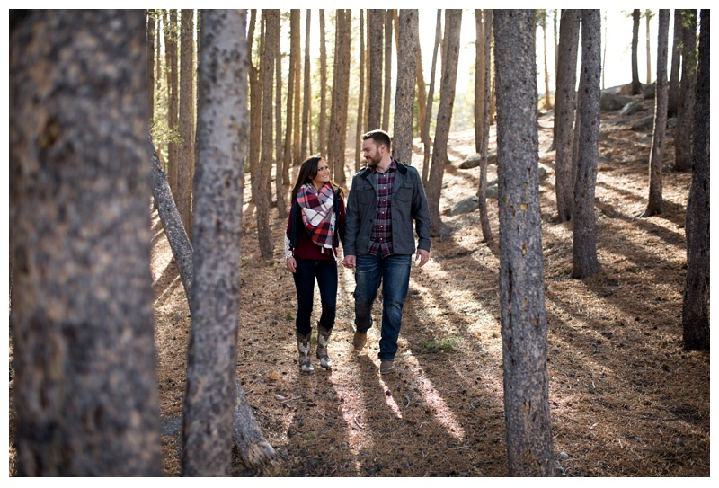 Jessica and Brian in Rocky Mountain National Park in Colorado. Engagement photography by Sonja Salzburg of Sonja K Photography.
