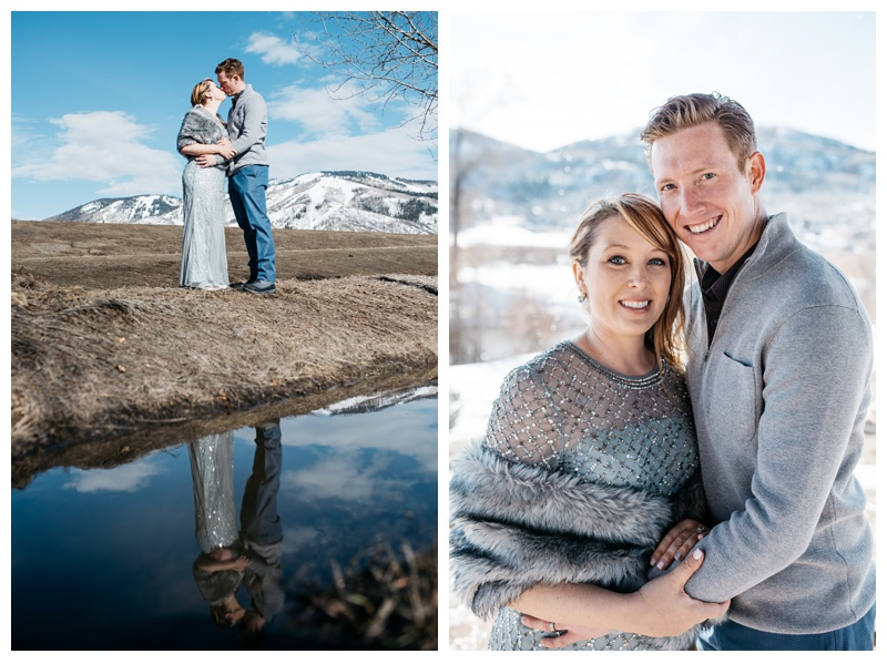 A married couple in Steamboat Springs, Colorado. Wedding photography by Sonja Salzburg of Sonja K Photography.