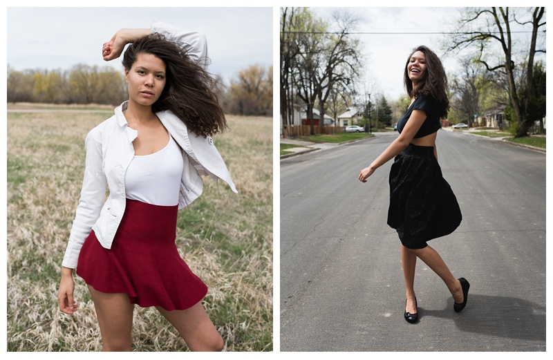 Model Kaya Cooper in Fort Collins, Colorado, Fashion photography by Sonja Salzburg of Sonja K Photography.
