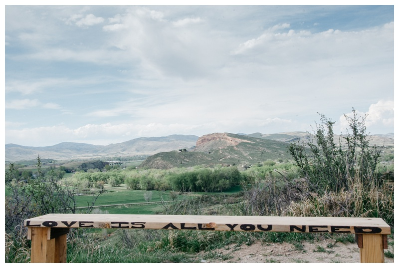 The view from Bingham Hill of the Bellvue Dome outside of Fort Collins, Colorado. Wedding photography by Max Salzburg of Sonja K Photography.