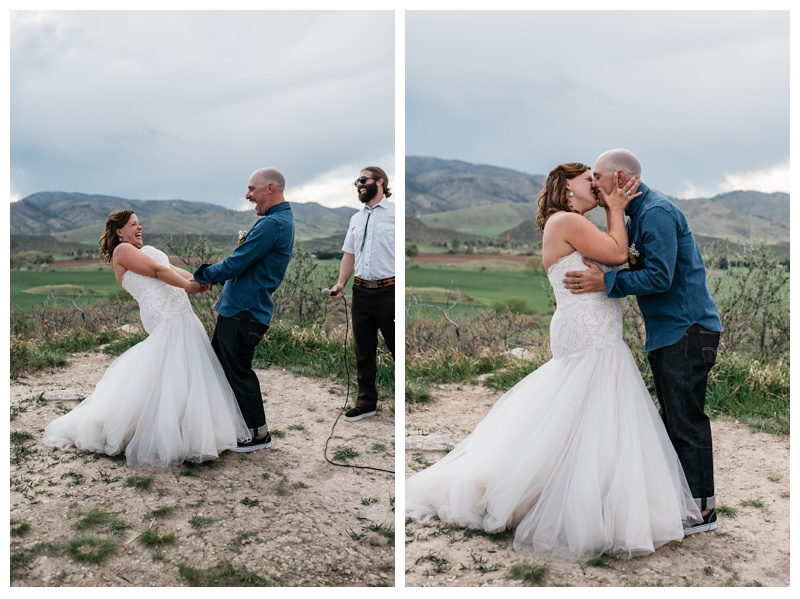 Katie and Justin Patti are married at Bingham Hill in Fort Collins, Colorado. Wedding photography by Sonja Salzburg of Sonja K Photography.