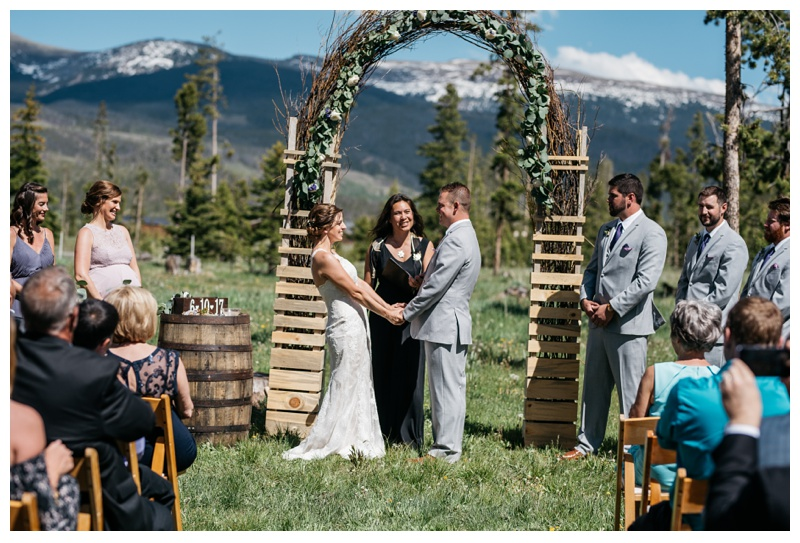 A wedding at Wild Horse Inn in the Colorado mountains near Winter Park and Fraser. Wedding photography by Sonja Salzburg.