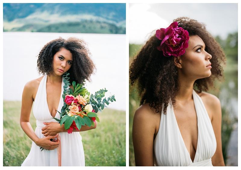 Kaya in a bridal fashion shoot. Wedding fashion portrait photography by Sonja Salzburg of Sonja K Photography.