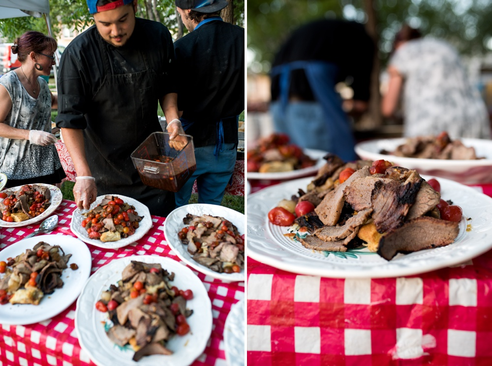 The fourth course at the Heart of Summer Dinner at Happy Heart Farm in Fort Collins, Colorado. Event and food photography by Sonja Salzburg of Sonja K Photography.