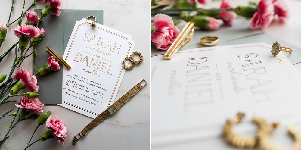 Custom printed wedding invitations by Basic Invite. Styling by Alyson Michelle of Things Like Stuff. Corporate product photography by Sonja Salzburg of Sonja K Photography.