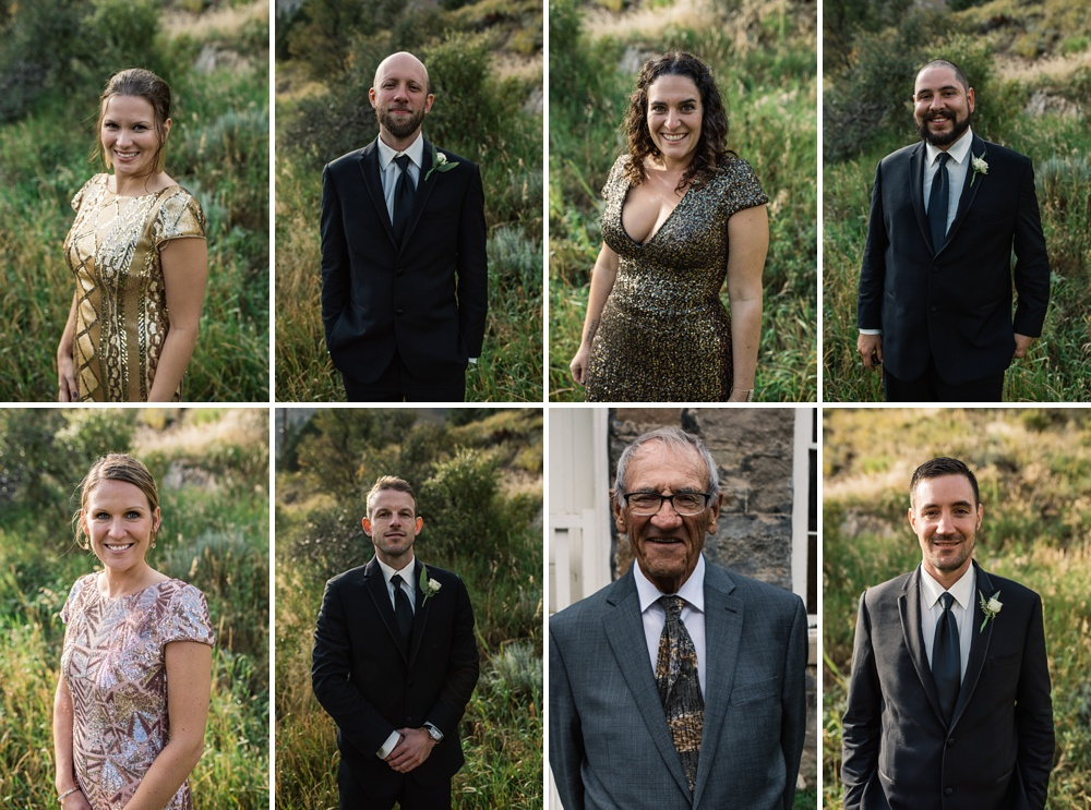 The wedding party from a Jewish ceremony on Guanella Pass outside of Georgetown, Colorado. Wedding portrait photography by Sonja Salzburg of Sonja K Photography.