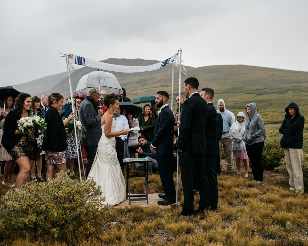 A Jewish wedding on top of Guanella Pass near Georgetown, Colorado. Wedding photography by Max Salzburg of Sonja K Photography.