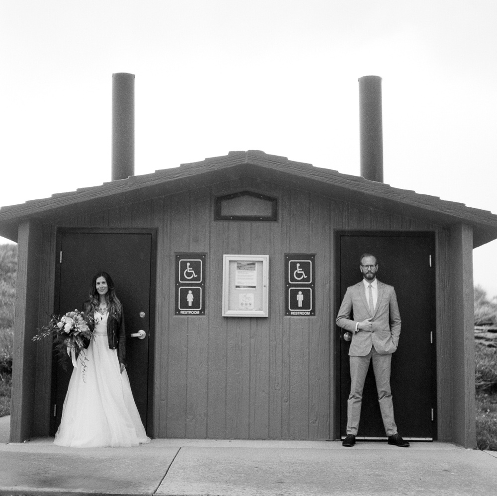 A bride and groom at Lory State Park outside of Fort Collins, Colorado. Wedding photography by Sonja Salzburg of Sonja K Photography.
