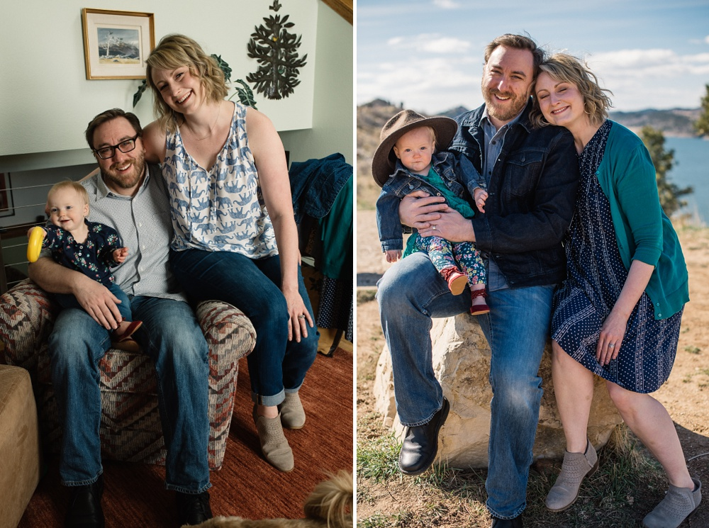 A young family in Fort Collins, Colorado. Family portrait photography by Sonja Salzburg of Sonja K Photography.