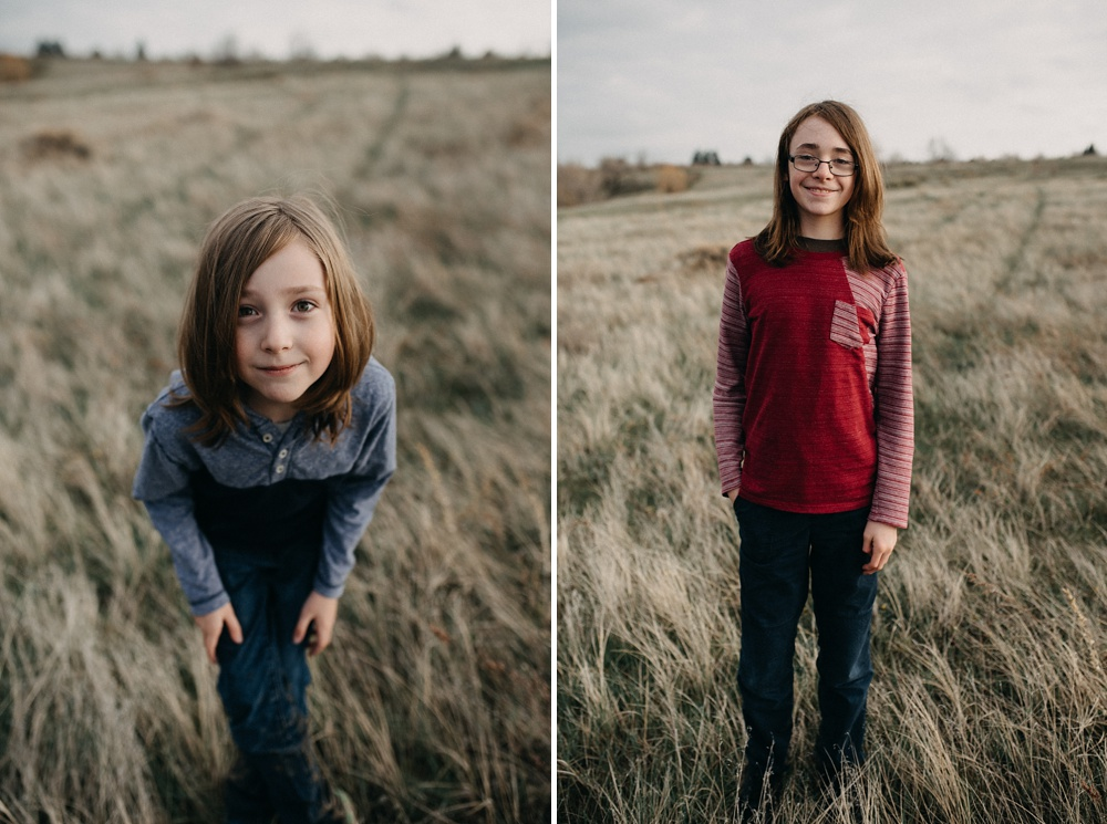 Two young boys at a family session at Standley Lake in Westminster, Colorado. Family portrait photography by Sonja Salzburg of Sonja K Photography.