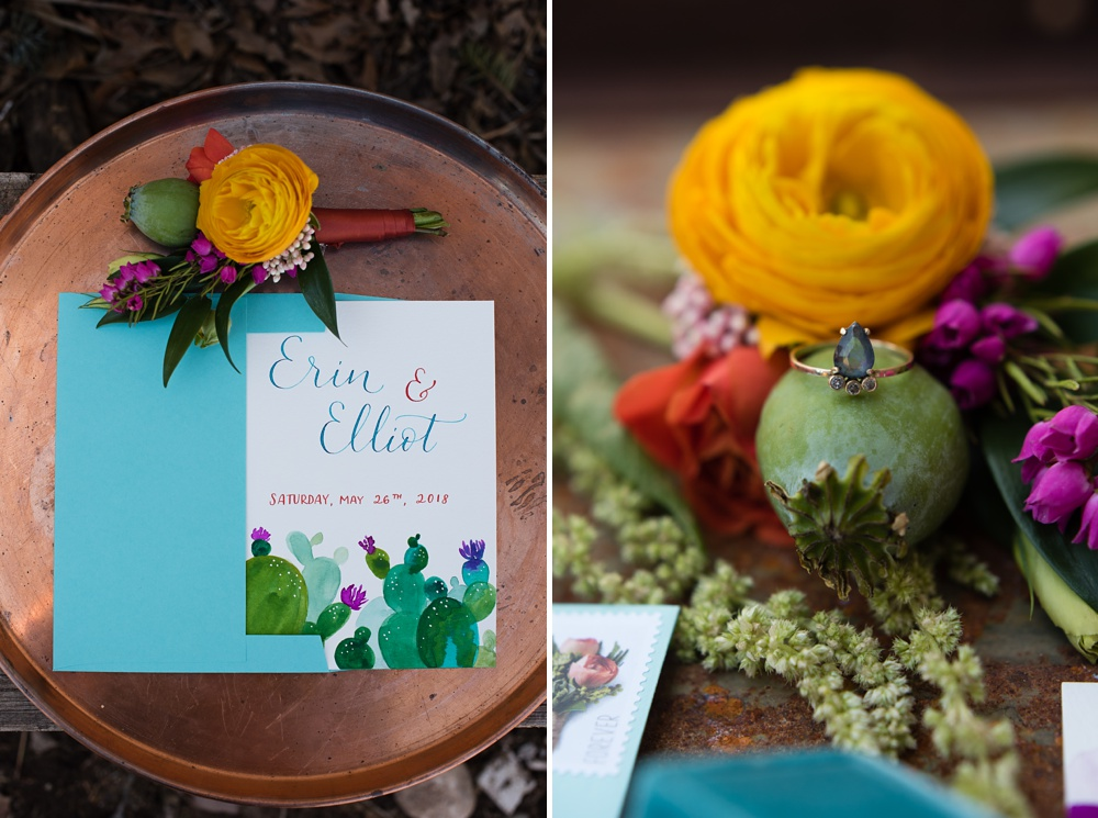 Custom invitations by Avo Ink and flowers by Emily Rose Floral Designs. Wedding styled shoot and corporate photography by Sonja Salzburg of Sonja K Photography.