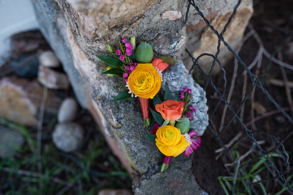 Flowers by Emily Rose Floral Design at a styled shoot at Rist Canyon Inn outside of Laporte, Colorado. Wedding styled shoot photography by Sonja Salzburg of Sonja K Photography.