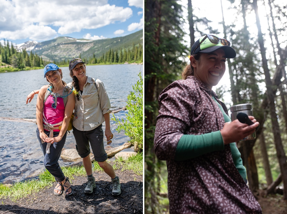 Some of the participants of the Wellbody Woman Summer TRIBE Program in the Indian Peaks Wilderness in Colorado. Event and portrait photography by Sonja Salzburg of Sonja K Photography.
