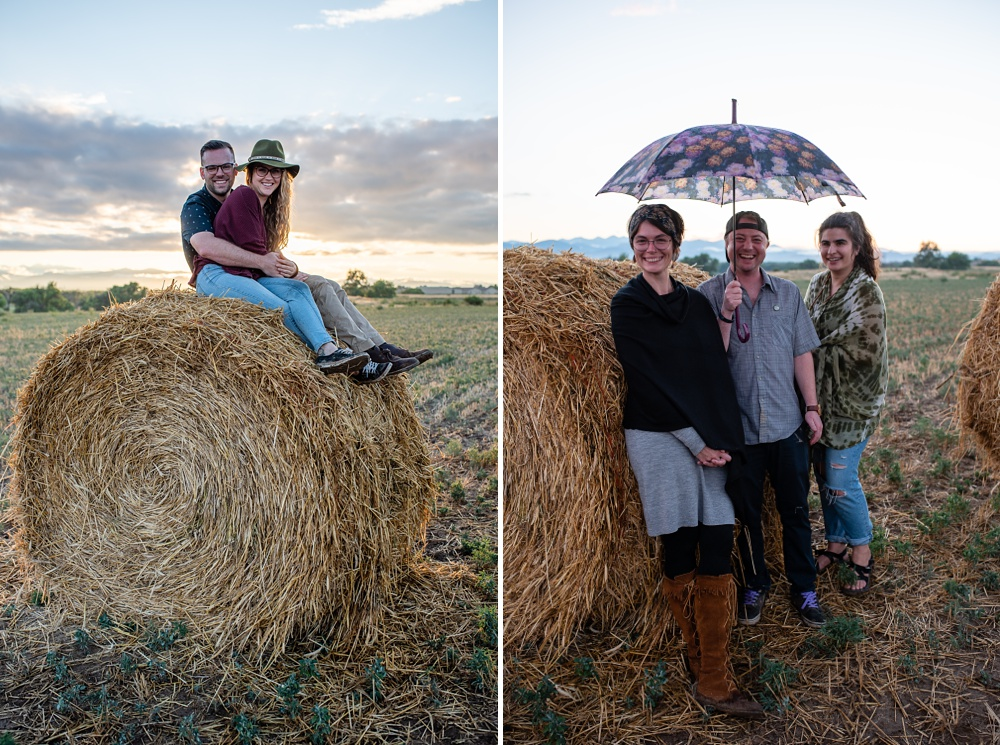 Some of the guests at the 2018 Fortified Collaborations Heart of Summer Farm Dinner at Colorado Stock and Grain Farm. Event portrait and food and beverage photography by Sonja Salzburg of Sonja K Photography.