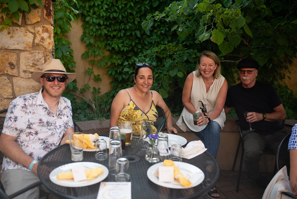 Some of the patrons of the Fortified Collaborations Second Sunday Supper in Fort Collins, Colorado. Event and Food and Beverage photography by Sonja Salzburg of Sonja K Photography.