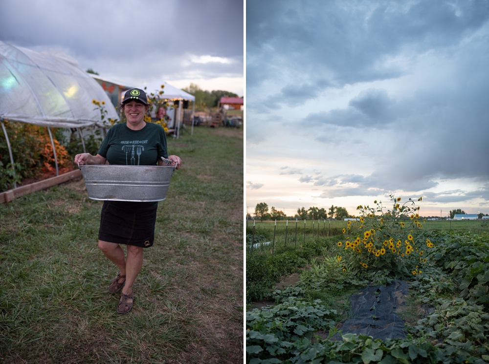 The amazing volunteers that make the dinners happen (with a Chelsea FC hat on) at the Fortified Collaborations 3 Forks Progressive Farm Dinner in Fort Collins, Colorado. Event and food and beverage photography by Sonja Salzburg of Sonja K Photography.