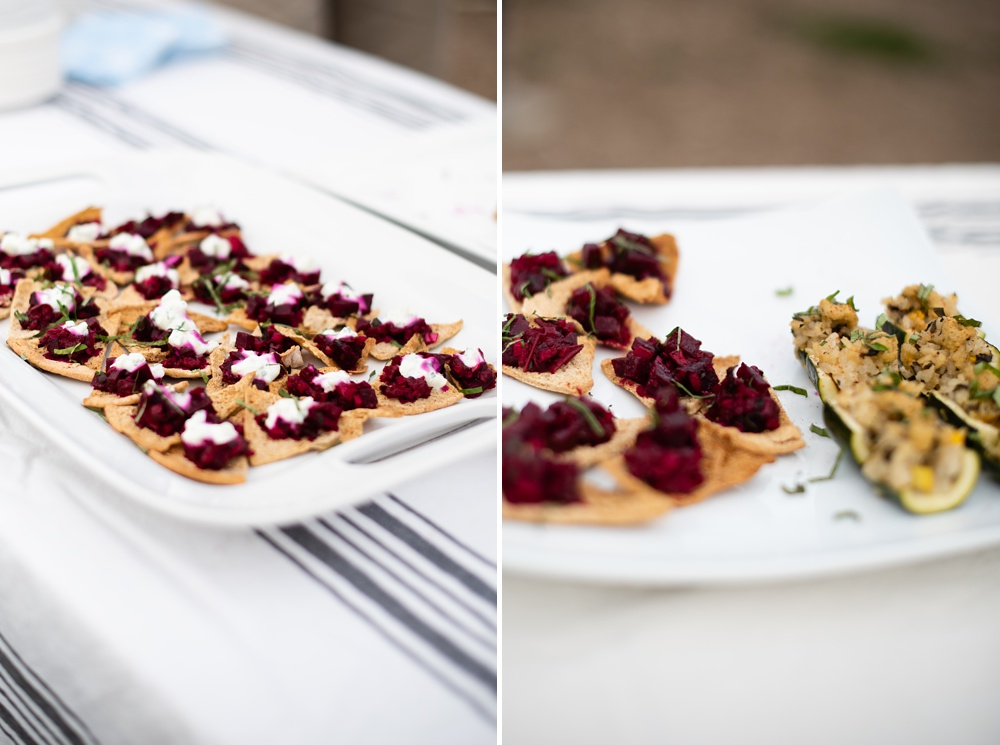 Appetizers are served at the Fortified Collaborations 3 Forks Progressive Farm Dinner in Fort Collins, Colorado. Event, food and beverage photography by Sonja Salzburg of Sonja K Photography.