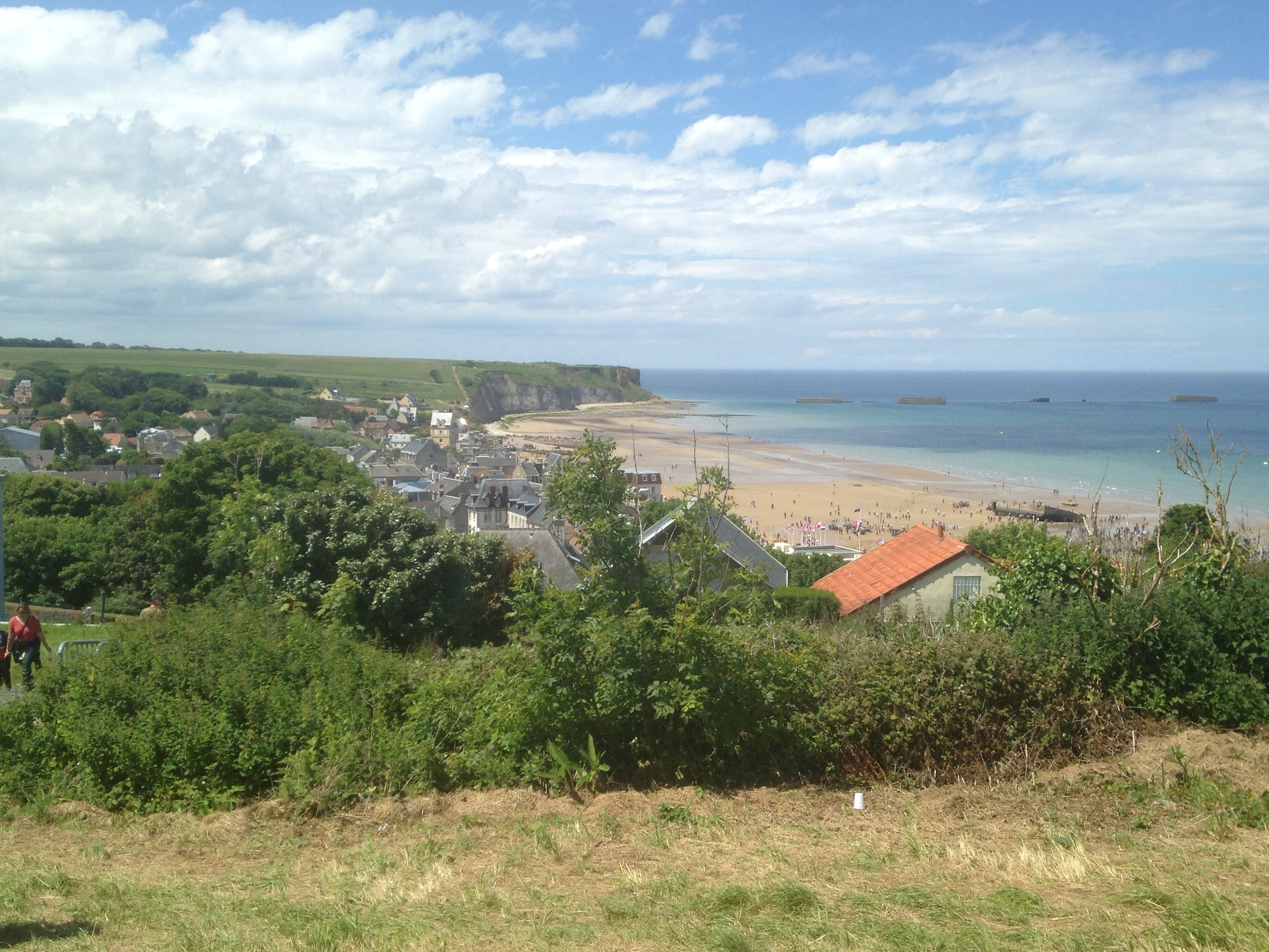 Beautiful ocean views from the hills of Arromanches