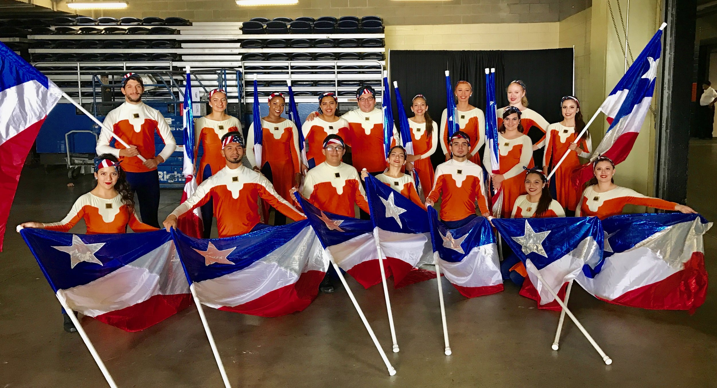 the 2016 SOSA colorguard on military appreciation Day!