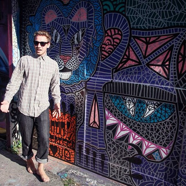 #tbt to when @cjacks13 was a barefooted hipster in San Fran
