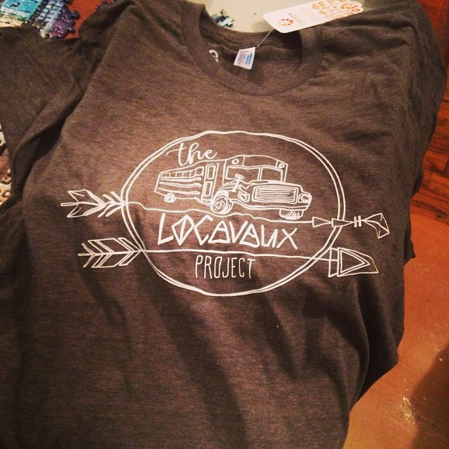 Locavaux t-shirts are in!  There are some lucky kickstarter donors out there who should be receiving a sweet swag package in the next week or so...