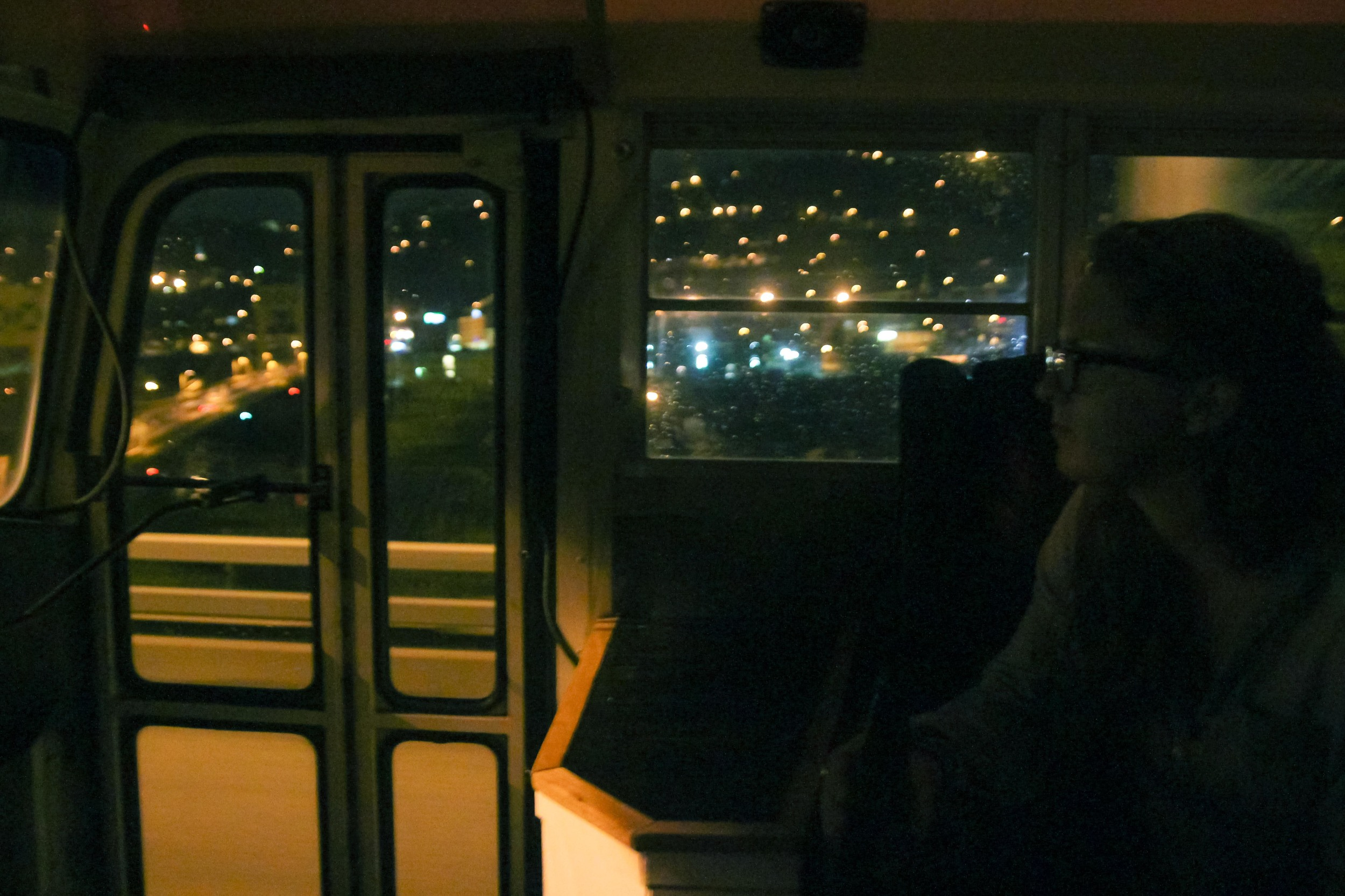 And all at once, we were infinite. Entering Pittsburgh at night.