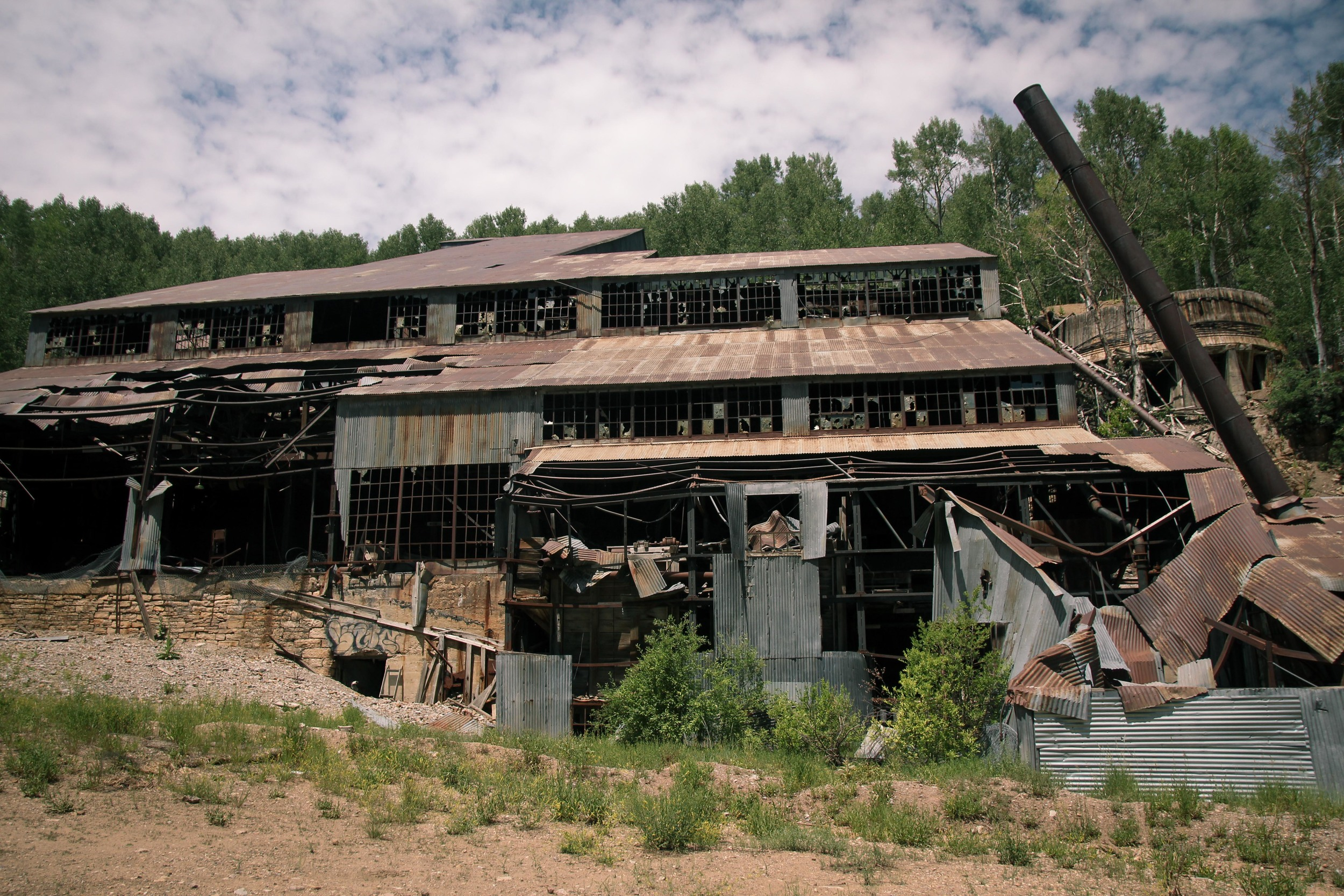 Abandoned silver mine on the mountain