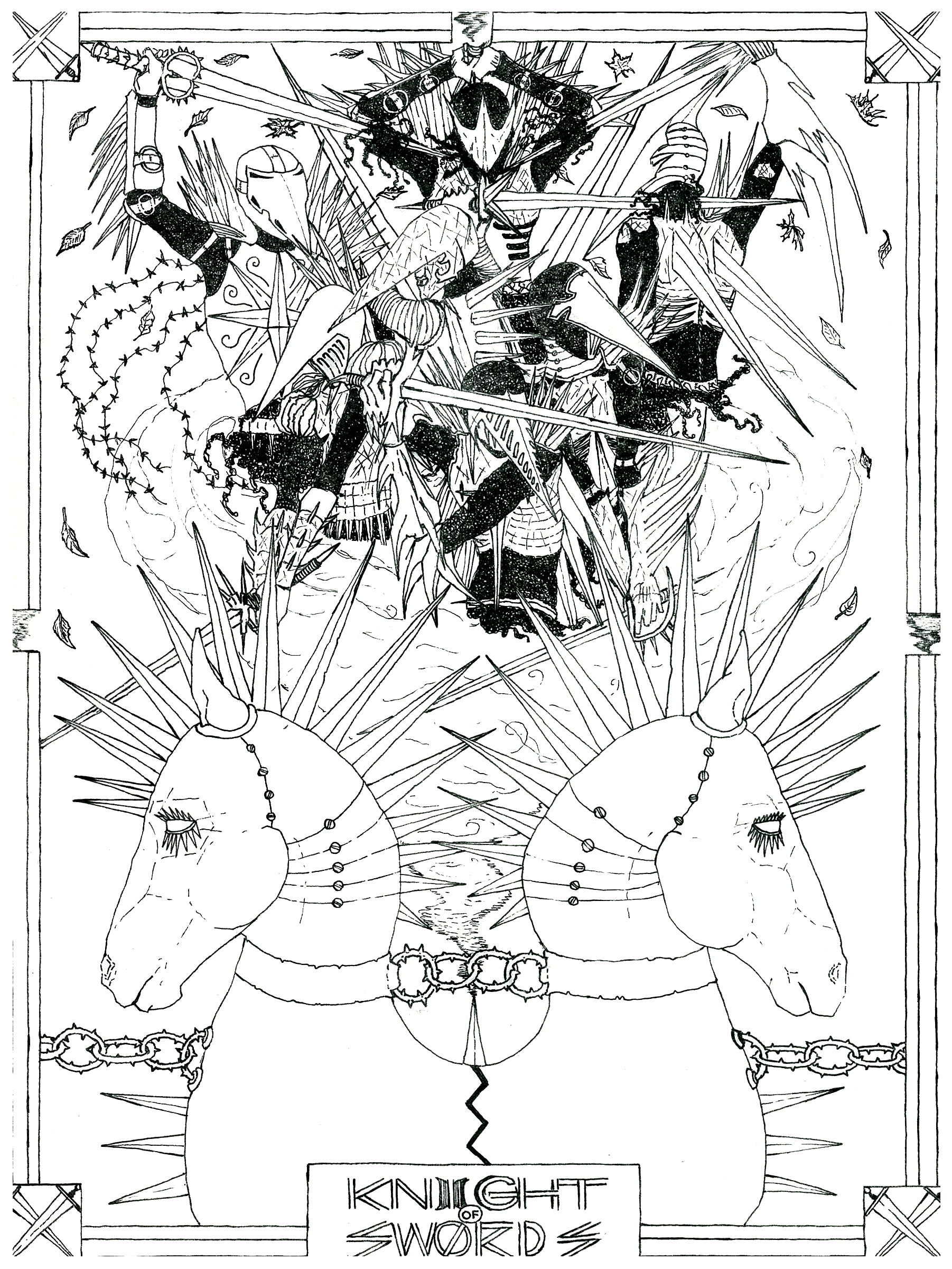The Knight of Swords - pre-color