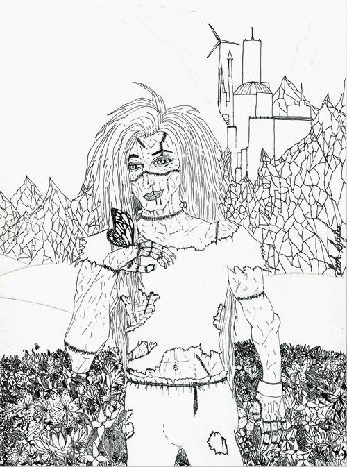 Frankenstein's Monster pre-coloring...