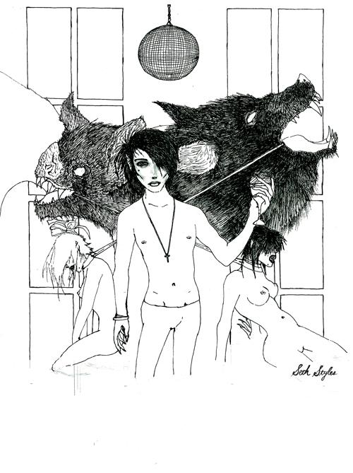 Dracula pre-coloring....