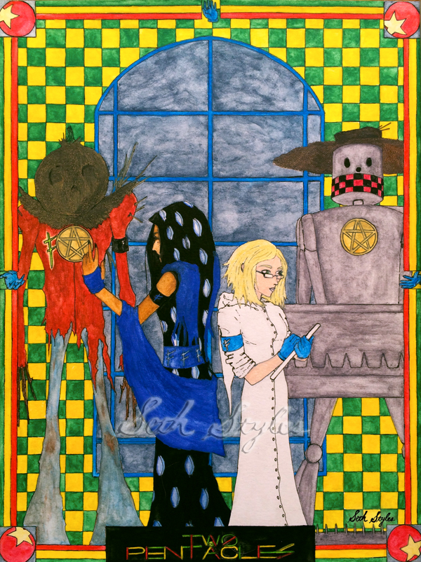 two-of-pentacles-seth-styles-tarot-sci-fi-occult-fantasy-art