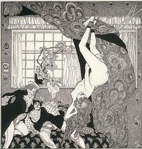 Franz von Bayros illustration entitled  Erotic Paroxysm .