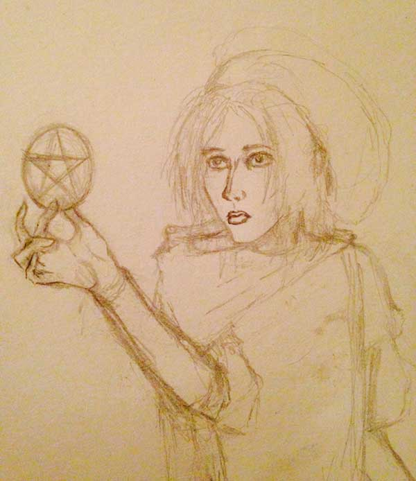 The ill-fated original sketch