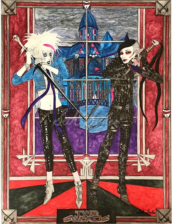 Two-of-Swords-fantasy-horror-art