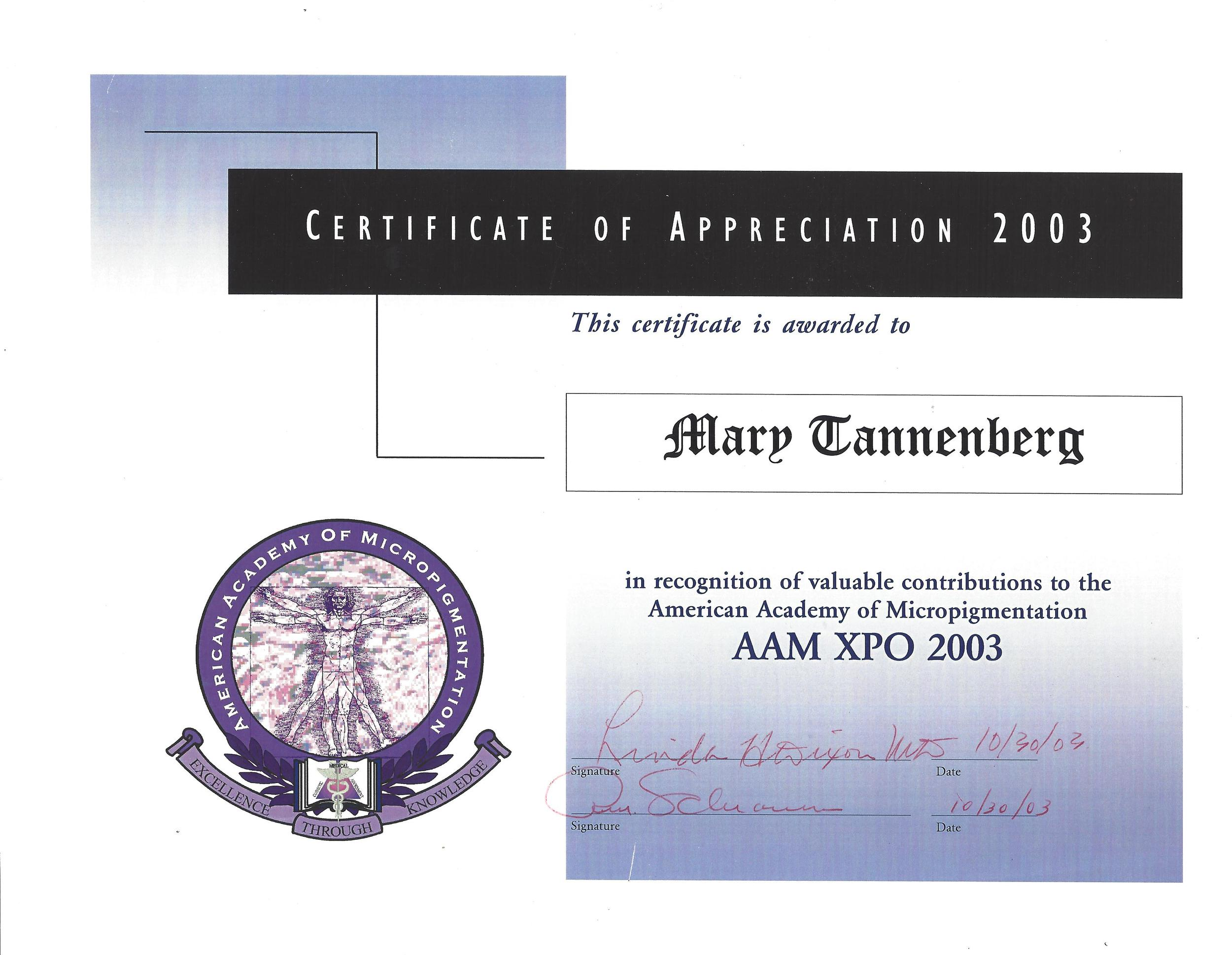 2003 aam appreciation.jpg