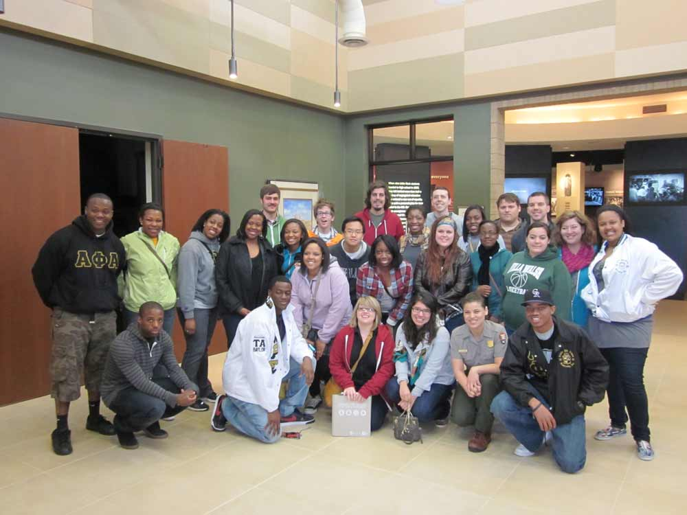 Baylor University students connect with Little Rock Central High School on a Civil Rights Tour through CBF of Arkansas.