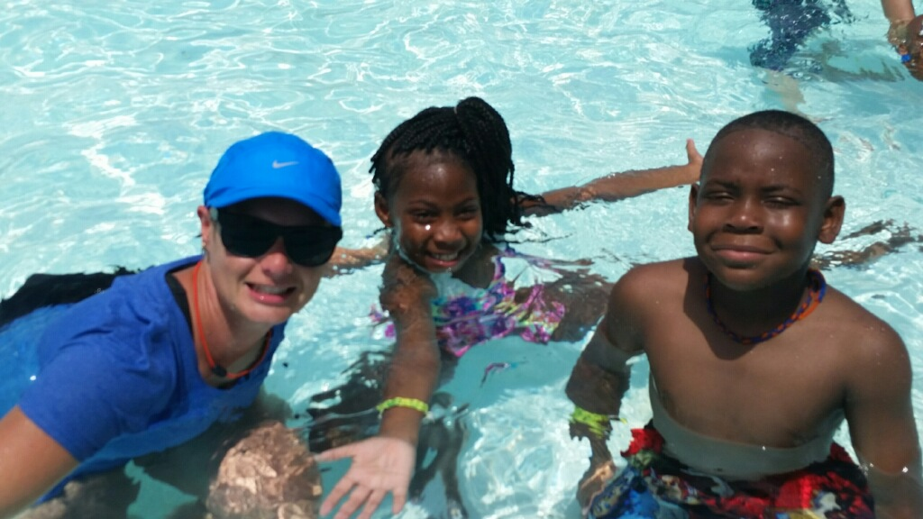 me with two of my swim campers who taught me the most