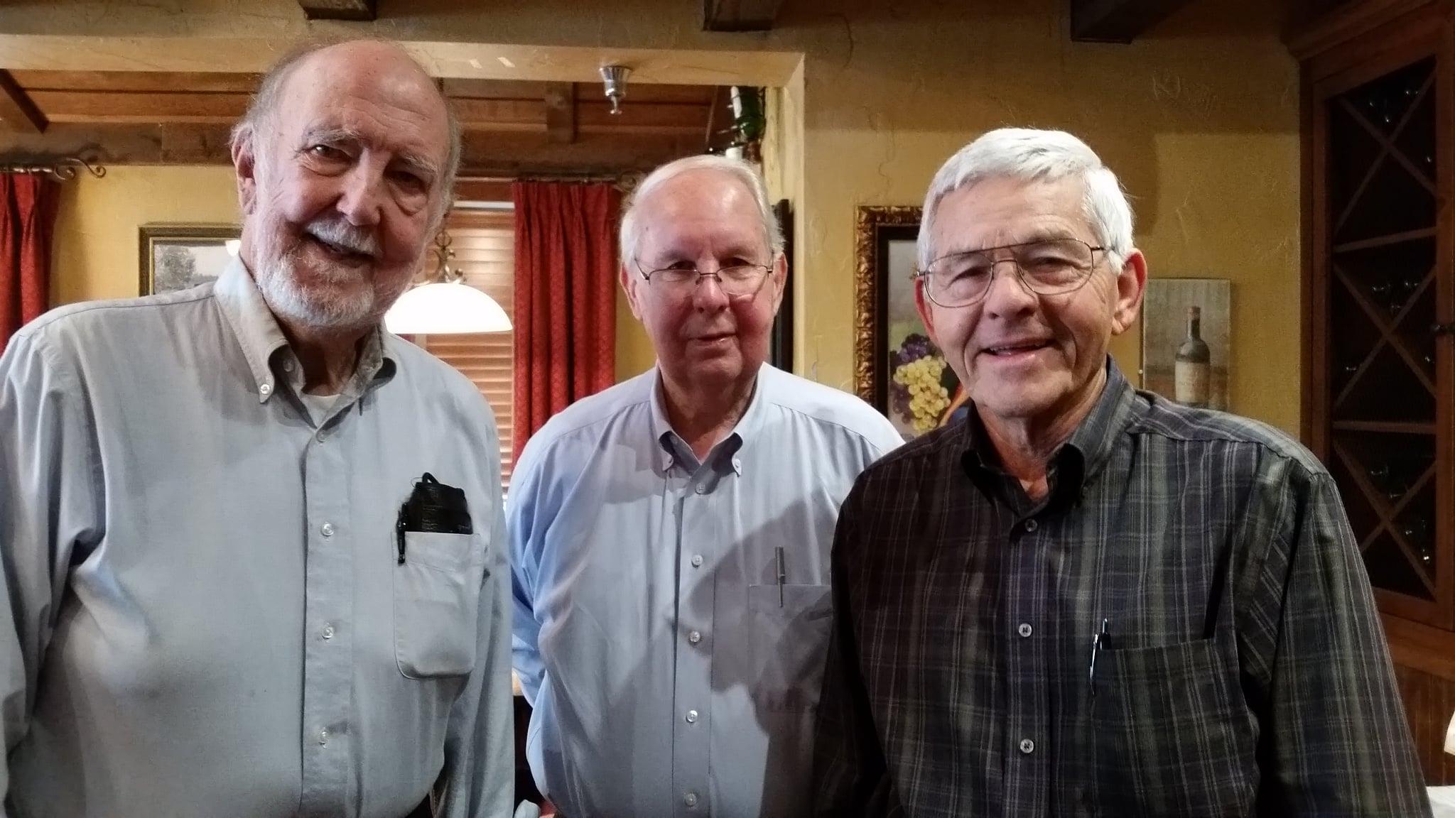 Left to right:  Dick Norton  (Little Rock),  Darrel Coleman  (Little Rock),  Dr. Doyle (Wendy) Burke  (Tempe, AZ).