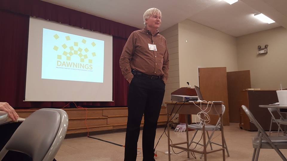 Harry Rowland,  Director of Missional Congregations,  of CBF Global led members at Pulaski Heights Baptist Church in Little Rock through a Dawnings Retreat recently.