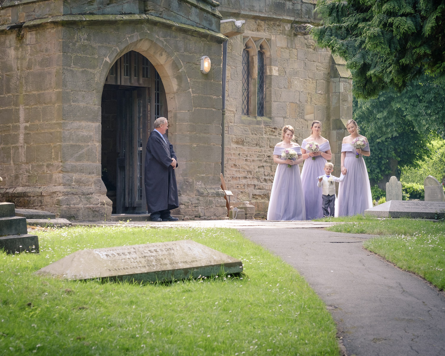 bridesmaids-pageboy-await-bride-st-Marys-Clifton