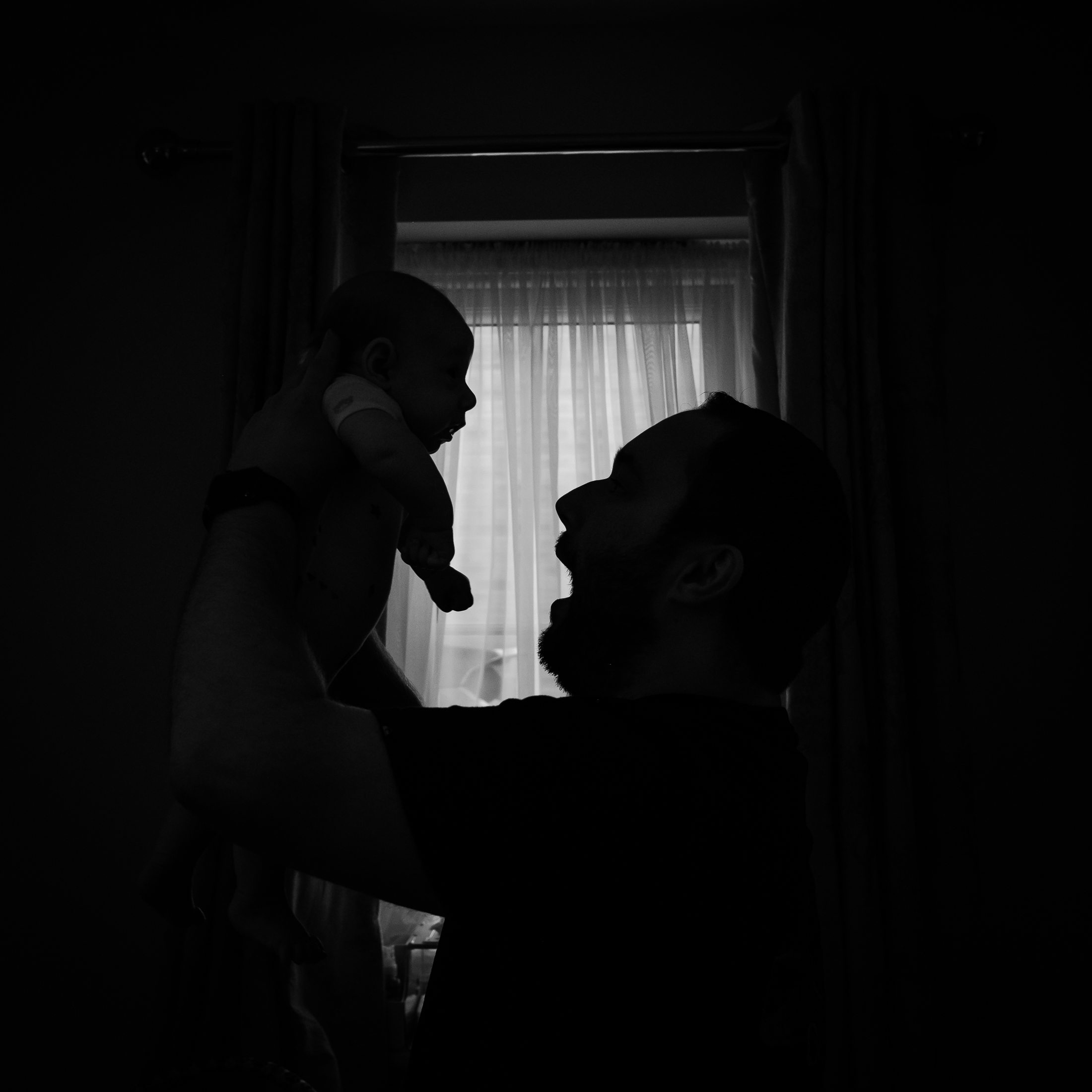 silhouette-dad-son