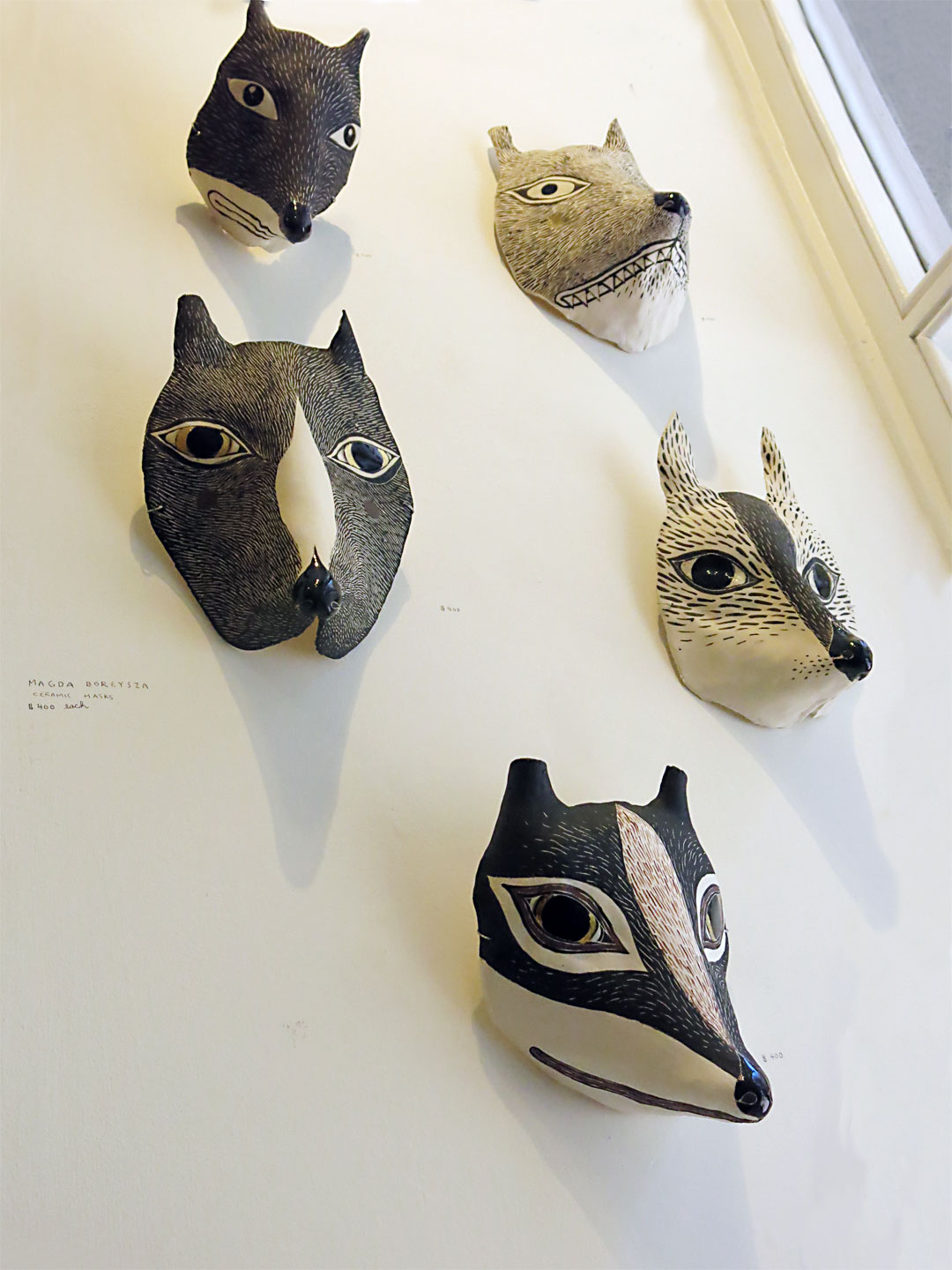 CERAMIC MASKS by Magda Boreysza.