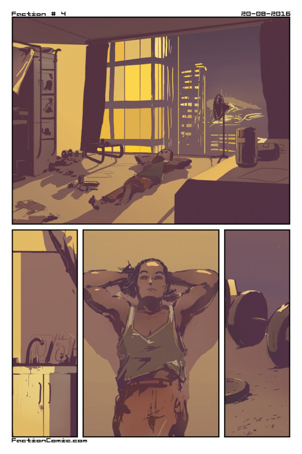 The Real World. Page 4 of  Faction . Illustrated by Heliotrope.