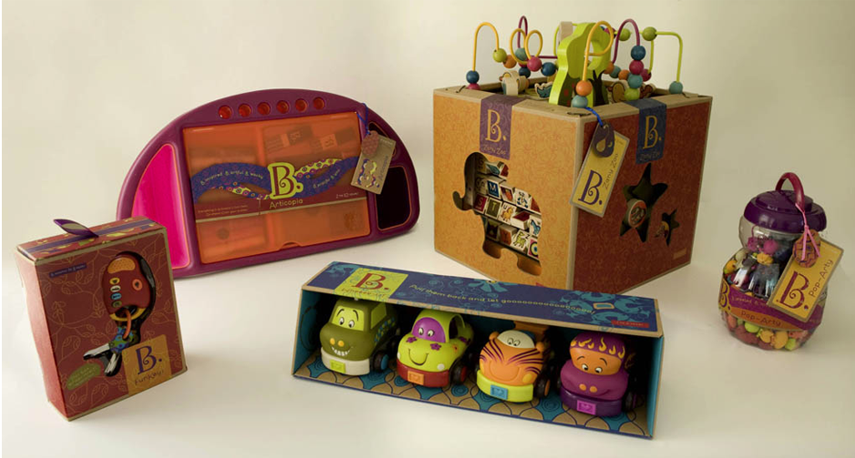 Before creating the website, we created the trade dress which included a dynamic logo and packaging that was very different than anything the toy world had ever seen. Fun patterns, unusual dielines, a custom font and kraft paper were used along with a modern color palette inspired by the toys.