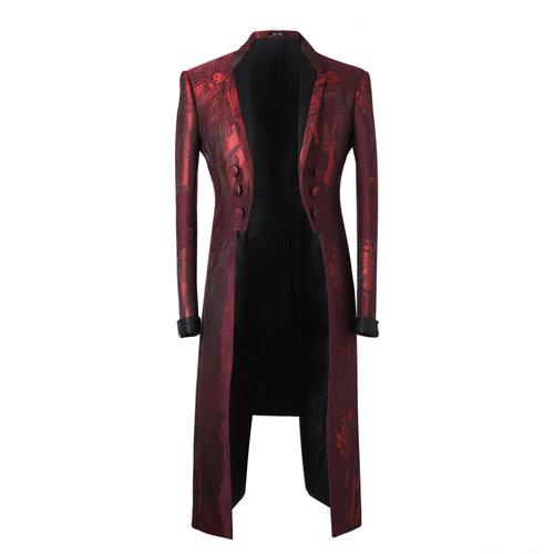 dfaec0bb824a9 The Prince' Blood Red 3-Tailors Tailcoat — Joshua Kanemenswear ...