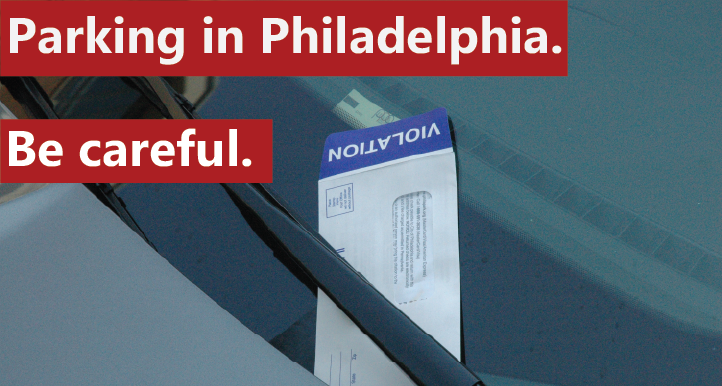 Visiting Philadelphia? I recommend against parking on the street.  (Above: a commonly seen PPA parking violation ticket.)
