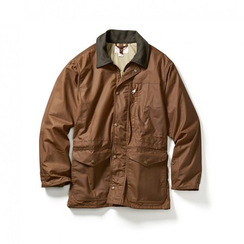 d7fdba591 Filson Cover Cloth Mile Marker Jacket- Brown